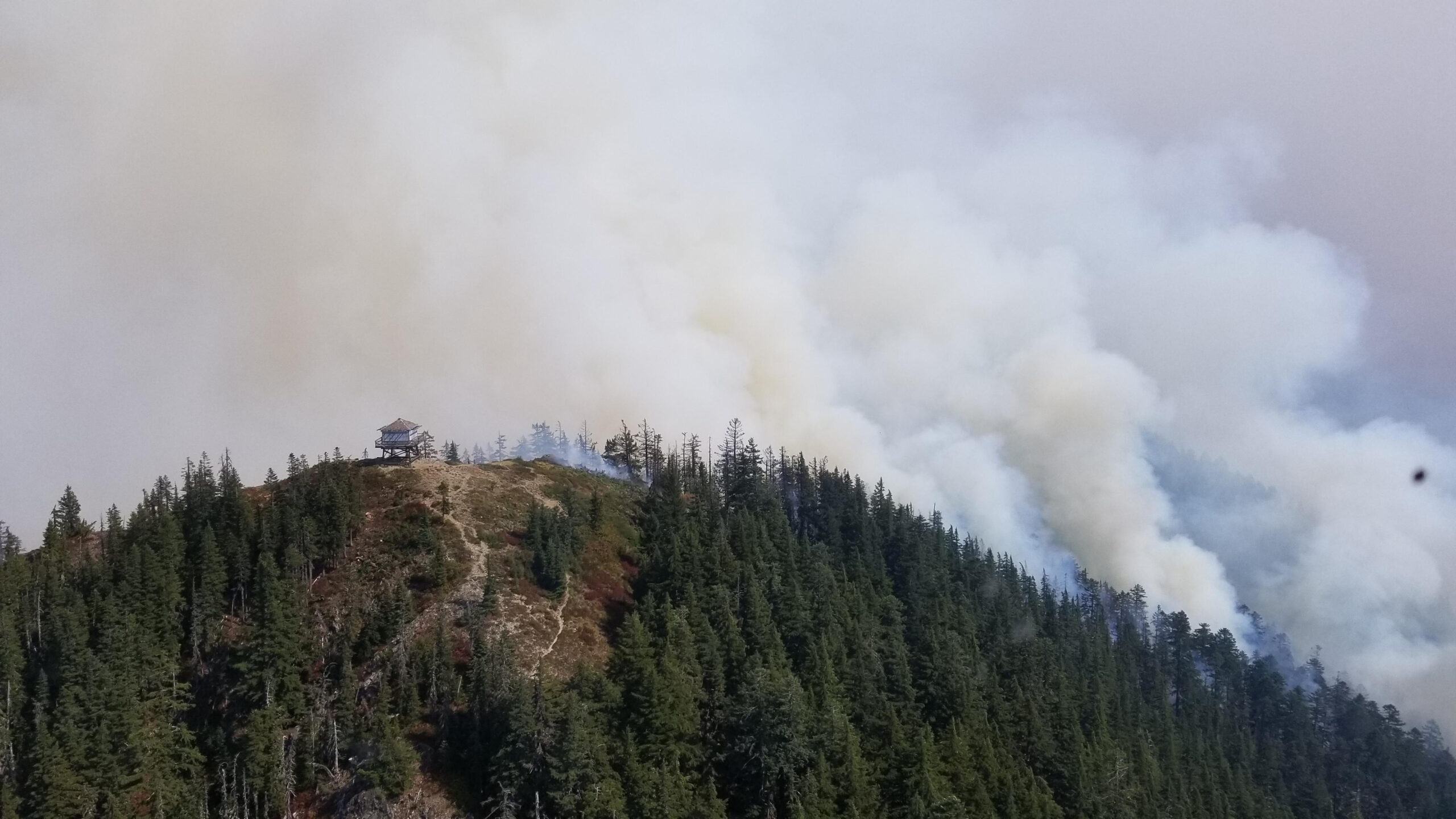 Bull of the Woods Lookout Burns